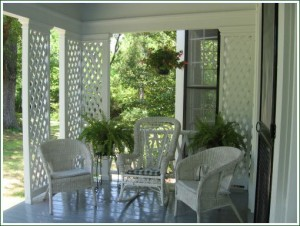 Relax on the Porch at Oak Grove Plantation Bed & Breakfast