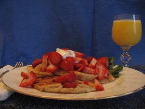 Luscious Fresh Strawberry Pancakes